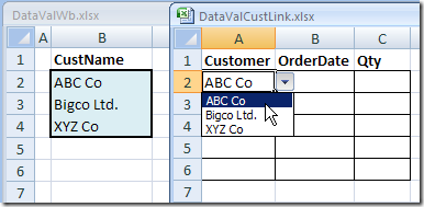 Excel Drop Down List From Different Workbook – Contextures Blog