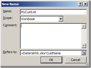 Excel Drop Down List From Different Workbook