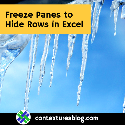 Freeze Panes to Hide Rows in Excel