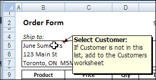 Excel VBA: Show a Message to Users