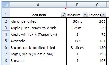 Excel Calorie Burn 01