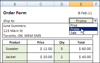 Excel Price List With VLOOKUP and MATCH