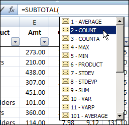Number the Visible Rows in Excel AutoFilter