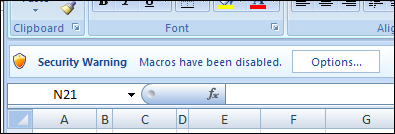 Bypass the Excel Macro Security Warning
