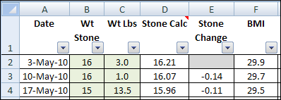 excel weight loss tracker in stone contextures blog