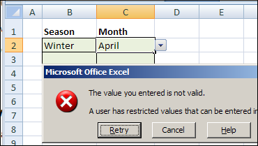 Invalid Entries Allowed in Data Validation