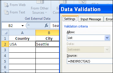 Different Drop Down Lists in Same Excel Cell – Contextures Blog