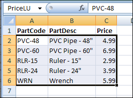 Combine Values for Excel VLOOKUP