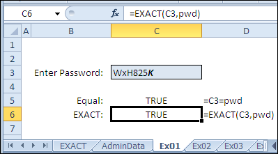 30 Excel Functions in 30 Days: 01 – EXACT