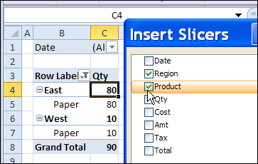 Filter Multiple Pivot Tables With Excel 2010 Slicers