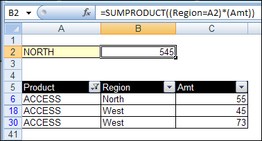 Subtotal and Sumproduct with Filter