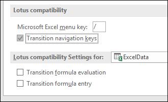 Transition Navigation Keys