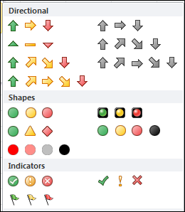 Customize Excel Conditional Formatting Icons