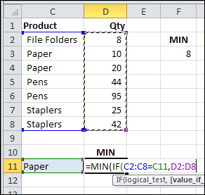 How to Find MIN IF or MAX IF in Excel – Contextures Blog