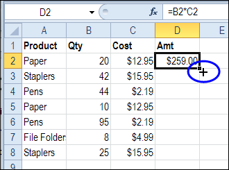 quickly copy excel formula down contextures blog