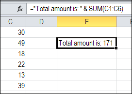 Add Line Break in Excel Formula
