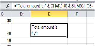 Add Line Break in Excel Formula – Contextures Blog