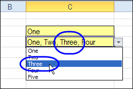Excel Drop Down Multiple Select or Remove