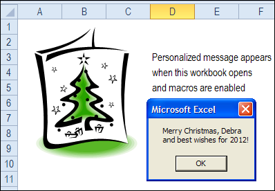 Personalized Excel Message