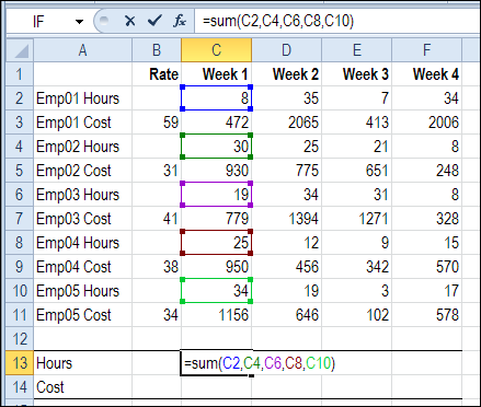 Sum Excel Rows Based on Text