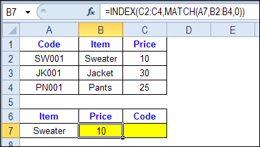 Check Multiple Criteria with Excel INDEX and MATCH