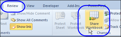 Shared Workbook Limits in Excel 2010 – Contextures Blog
