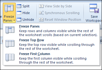 Lock Excel Heading Rows In Place Contextures Blog