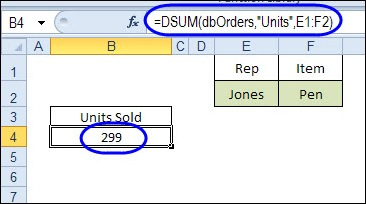 DSUM and Excel Tables: Sum With Multiple Criteria