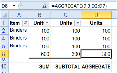 Sum a Filtered List with AGGREGATE