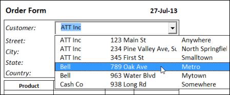 Show Multiple Columns in Excel Drop Down List – Contextures Blog