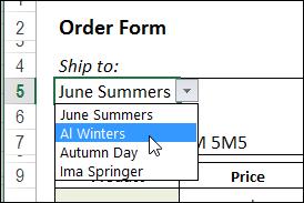 Show Multiple Columns in Excel Drop Down List