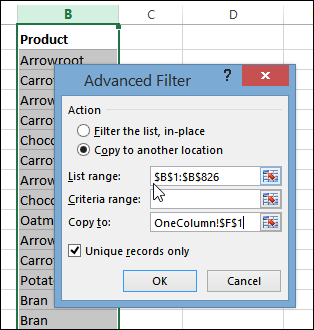 Remove Duplicates in Excel 2013 List