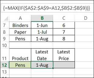 Using MAX IF With Multiple Criteria – Contextures Blog