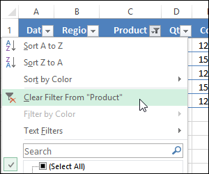 Clear Excel Filters With a Single Click
