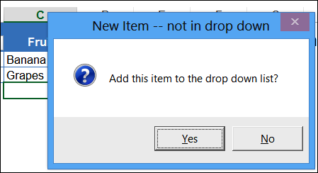 Add New Items to Data Validation Combo Box
