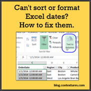 Excel Dates Won't Change Format