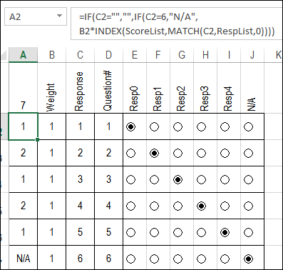 Calculate Survey Scores with Excel Option Buttons – Contextures Blog