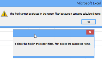 Least Informative Excel Message Ever