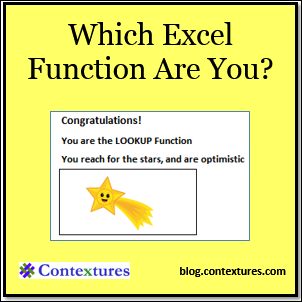 Which Excel Function Are You?