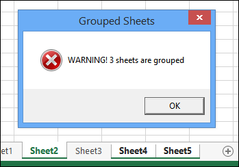 Warning For Grouped Sheets
