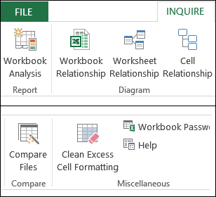Excel tools for complex workbooks