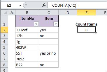 Problems Counting Excel Data COUNTIF COUNTA – Contextures Blog