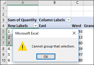 Problem Grouping Pivot Table Items – Contextures Blog