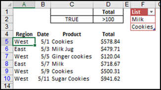 Excel Filter to Match List of Items – Contextures Blog