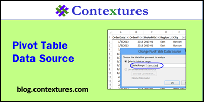 Pivot Table Data Source Tips http://blog.contextures.com/