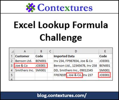 Excel Lookup Formula Challenge http://blog.contextures.com/