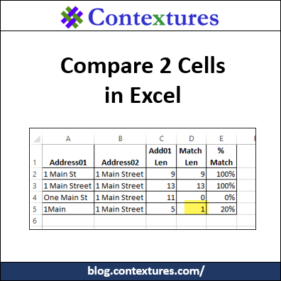 How to Compare Two Cells in Excel
