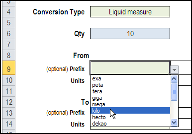 Excel CONVERT Function With Drop Down Lists – Contextures Blog