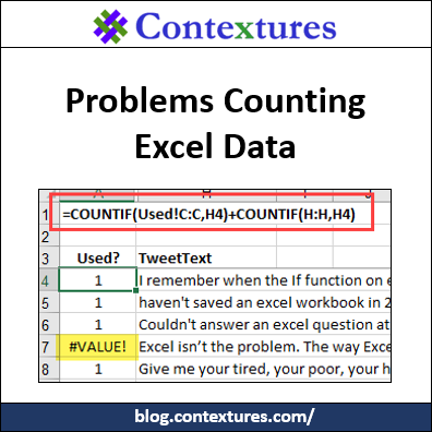 Problems Counting Excel Data COUNTIF COUNTA