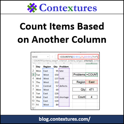 Count Items Based on Another Column - Contextures Blog